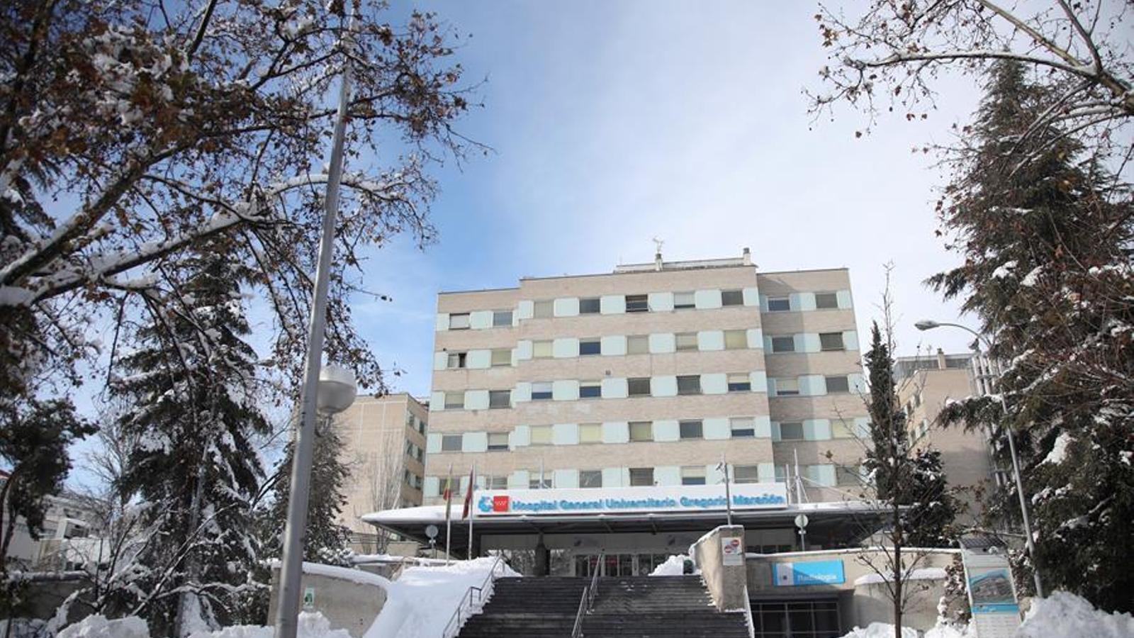 Entrada a l'hospital Gregorio Marañón de Madrid, aquest diumenge