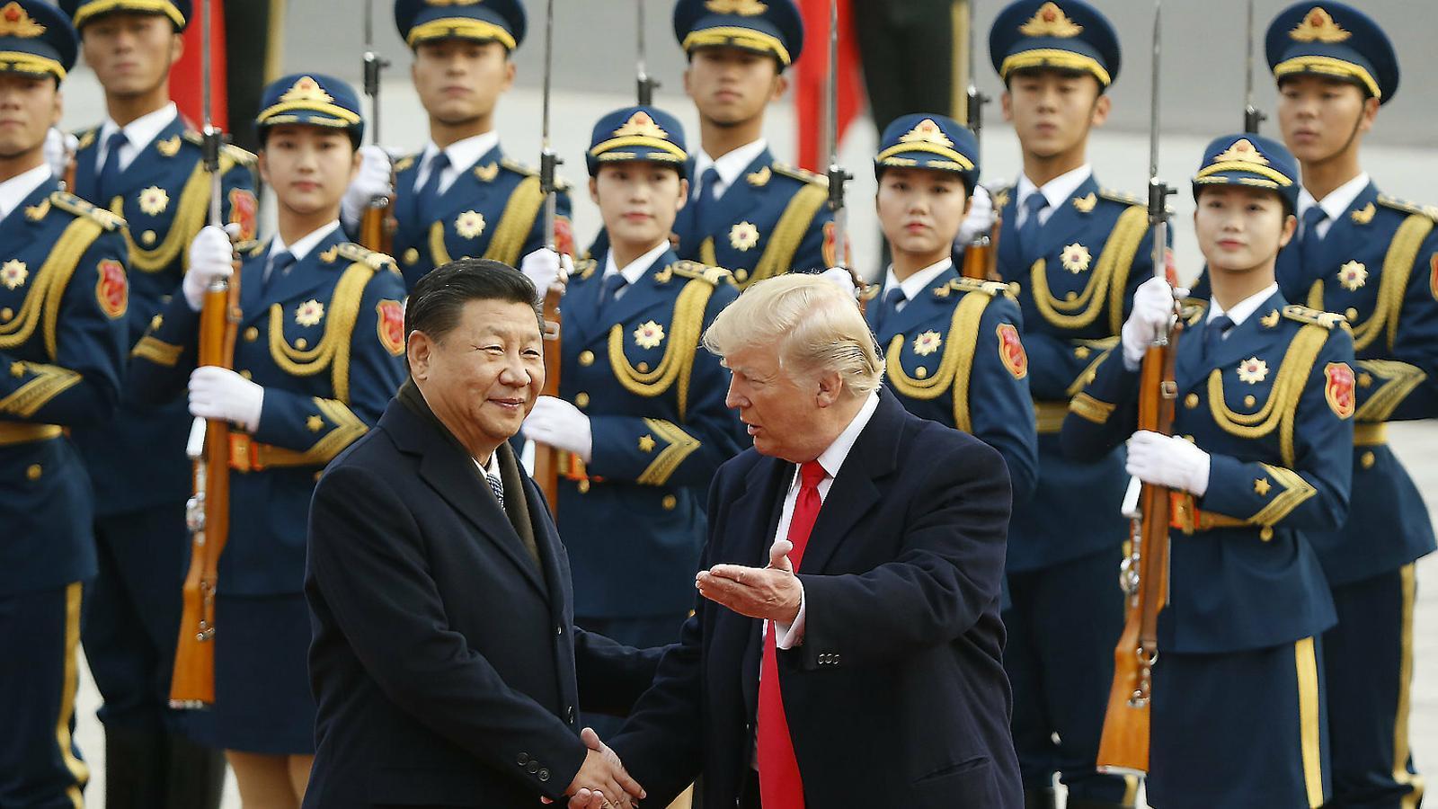 Imatge d'una trobada entre Xi Jinping i Donald Trump el 2017 a Pequín.