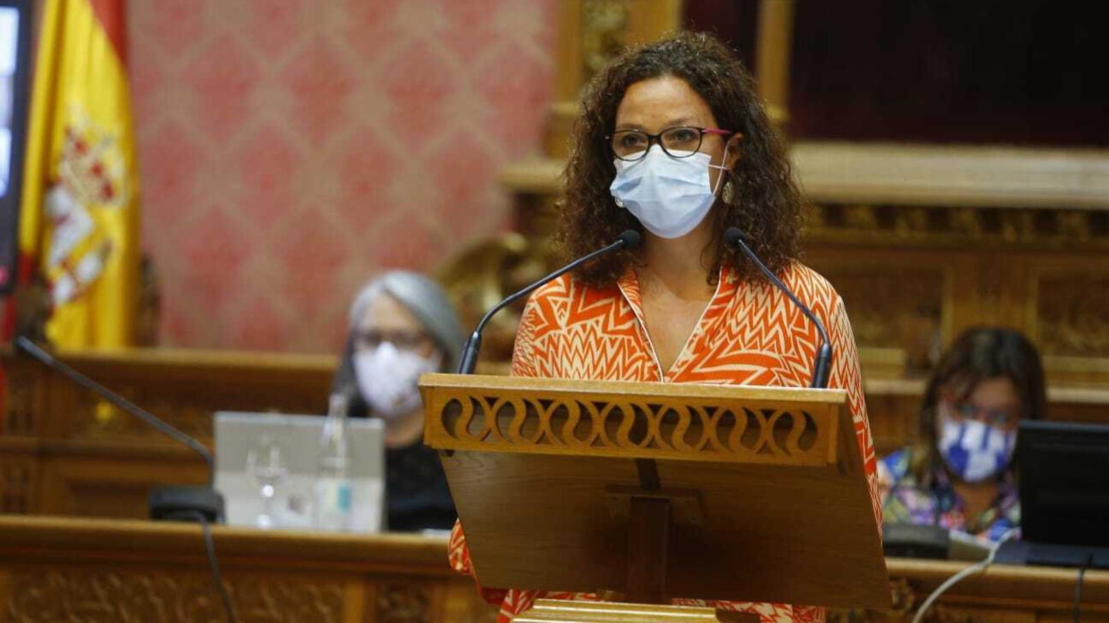 La presidenta del Consell de Mallorca, Catalina Cladera, aquest dimecres.