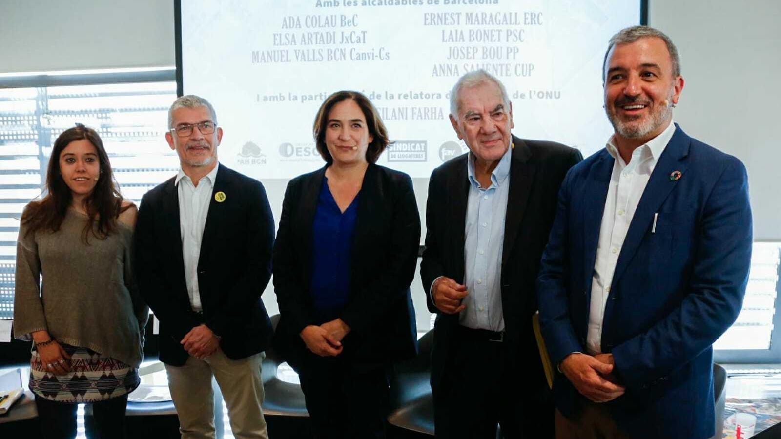 Maragall i Colau s'enganxen per la regulació de lloguers