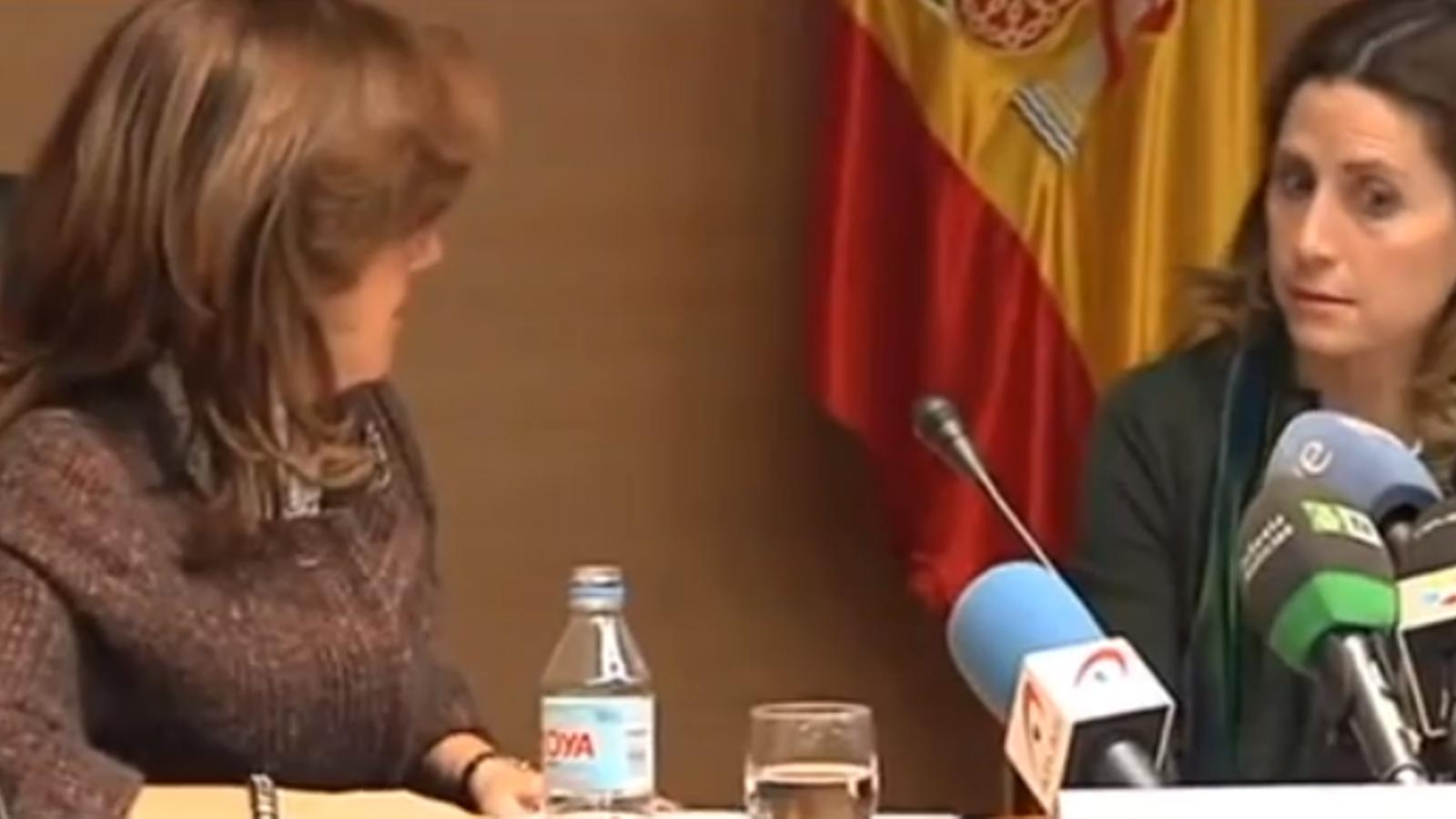 """La directora de l'Agència Tributària després de parlar del cas Bárcenas: """"No sé ni què he dit"""""""