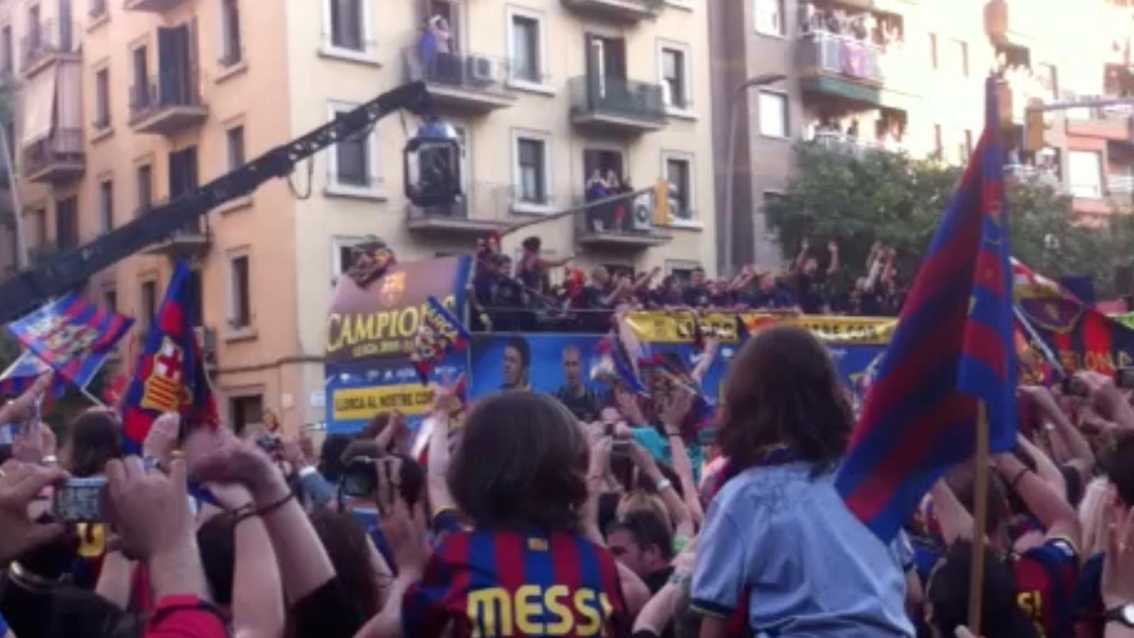 Així ha començat la rua del Barça