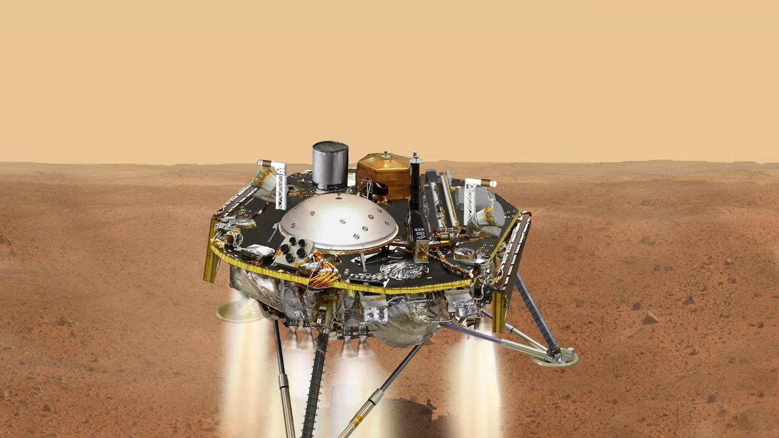La sonda InSight aterra a la superfície del planeta vermell / NASA