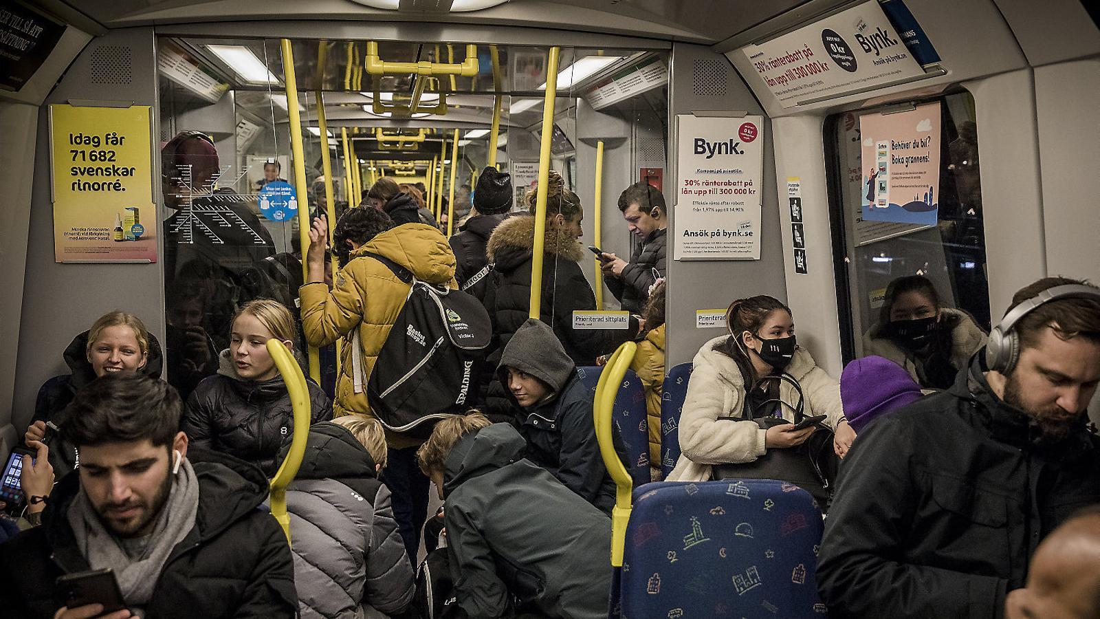 Una imatge del metro d'Estocolm el passat 4 de desembre.