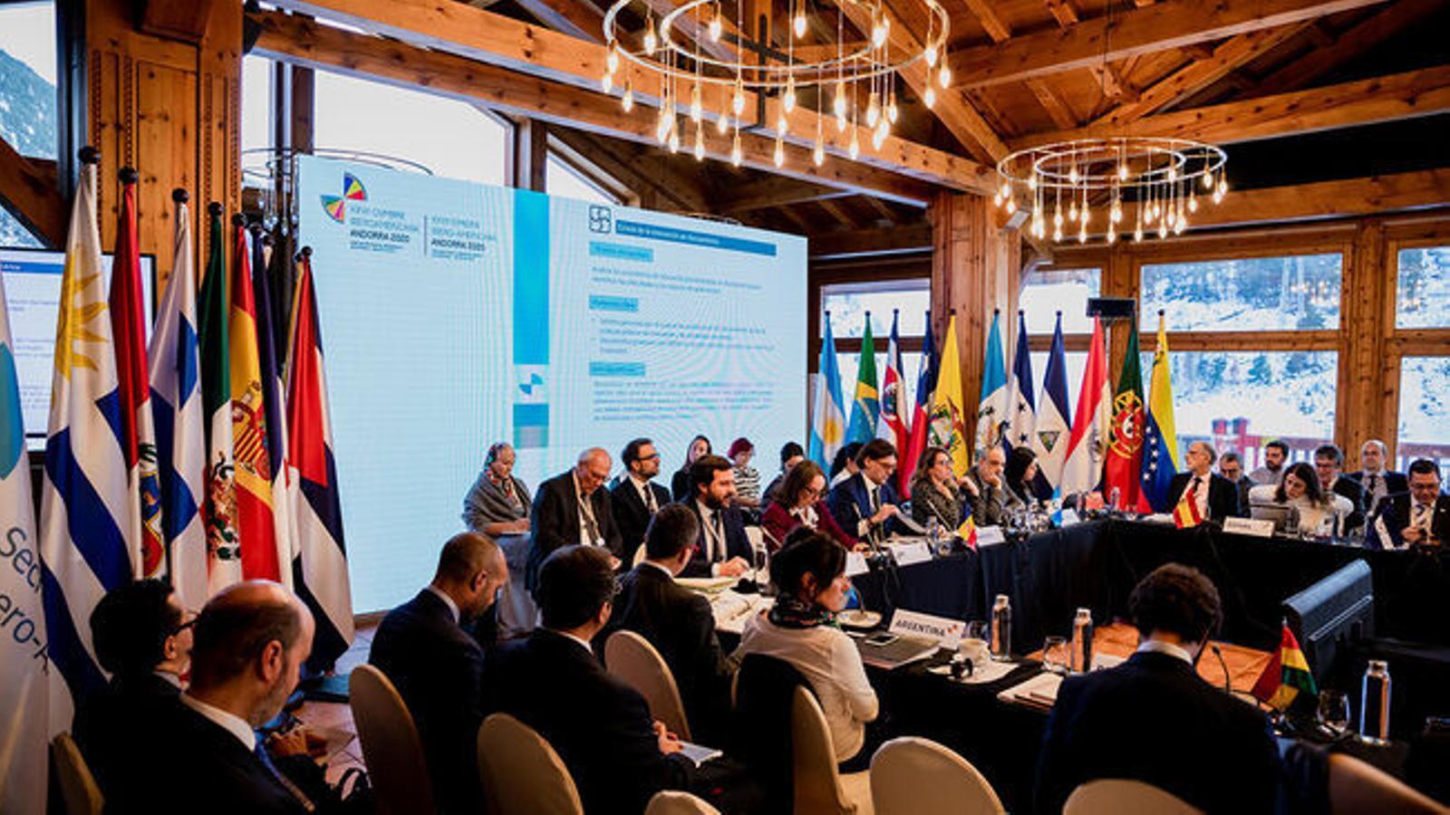 La cimera de ministres d'Afers Exteriors celebrada a Soldeu. / ARXIU ANA