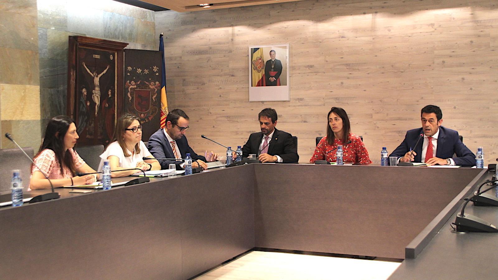 Un moment del consell de comú d'Ordino celebrat aquest dijous. / C. G. (ANA)