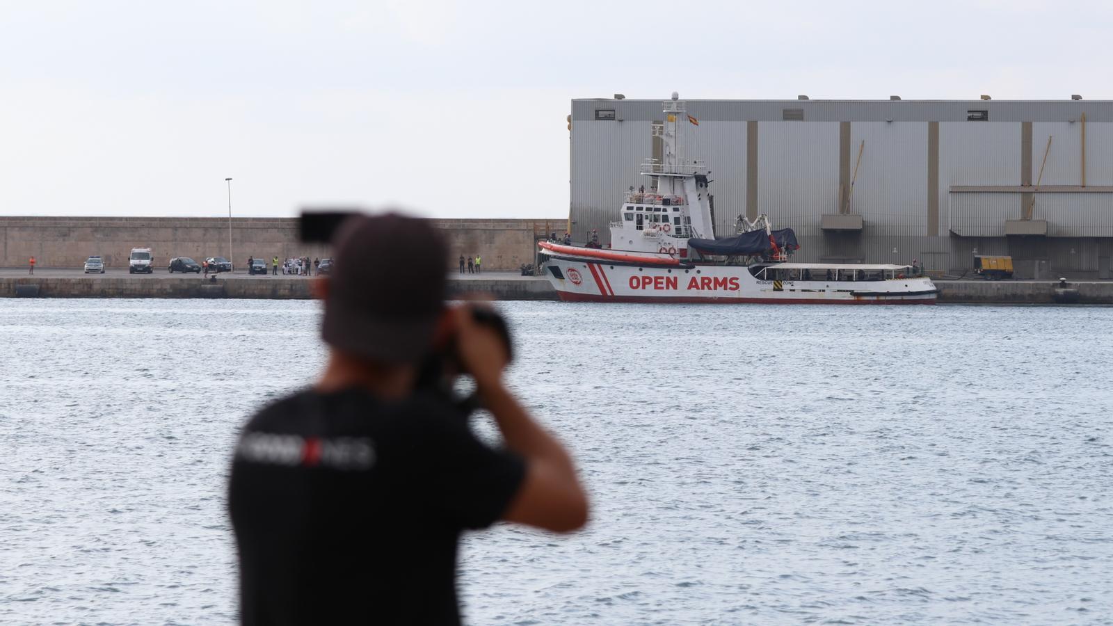 L'Open Arms atraca a Mallorca