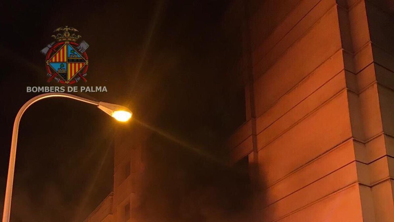 Detenen el presumpte autor de diversos incendis de contenidors a Palma