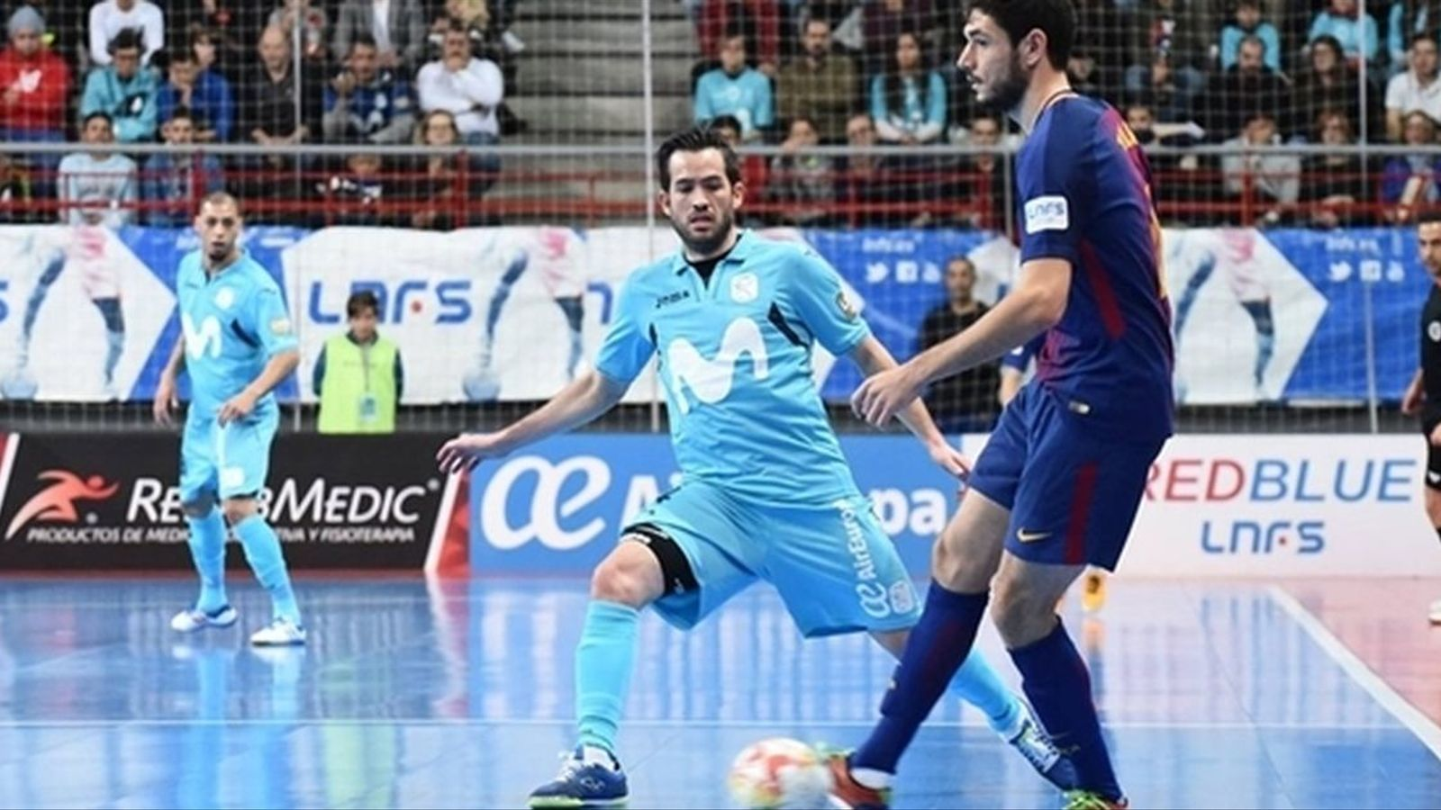 Marc Tolrà en el partit de Lliga davant el Movistar Inter