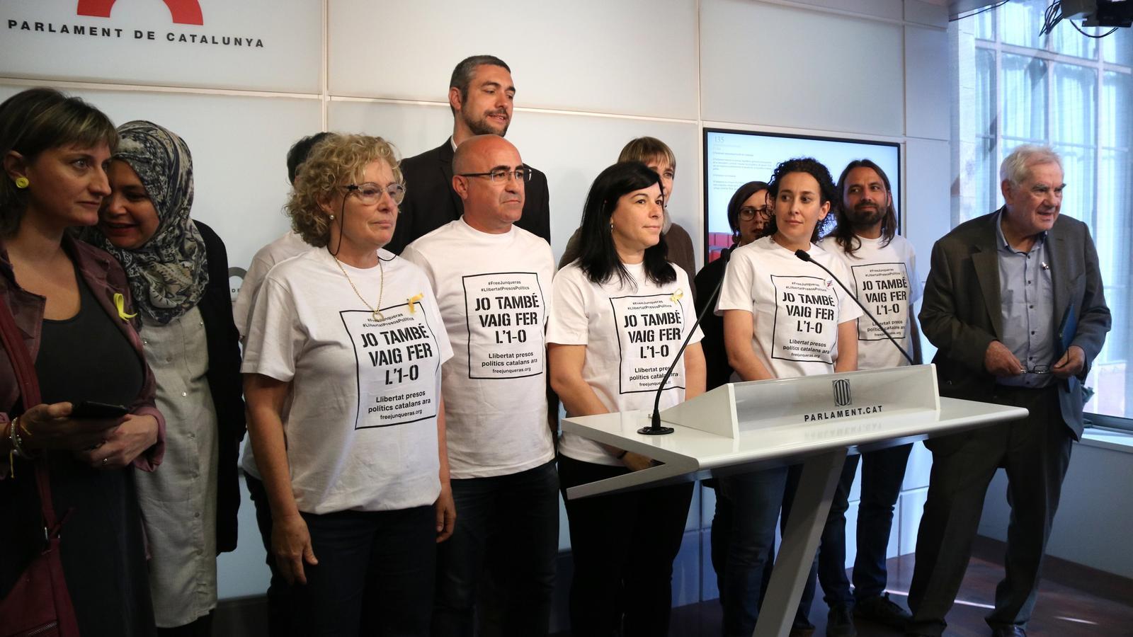 Diputats d'ERC han reivindicat aquest divendres la seva corresponsabilitat amb l'1-O