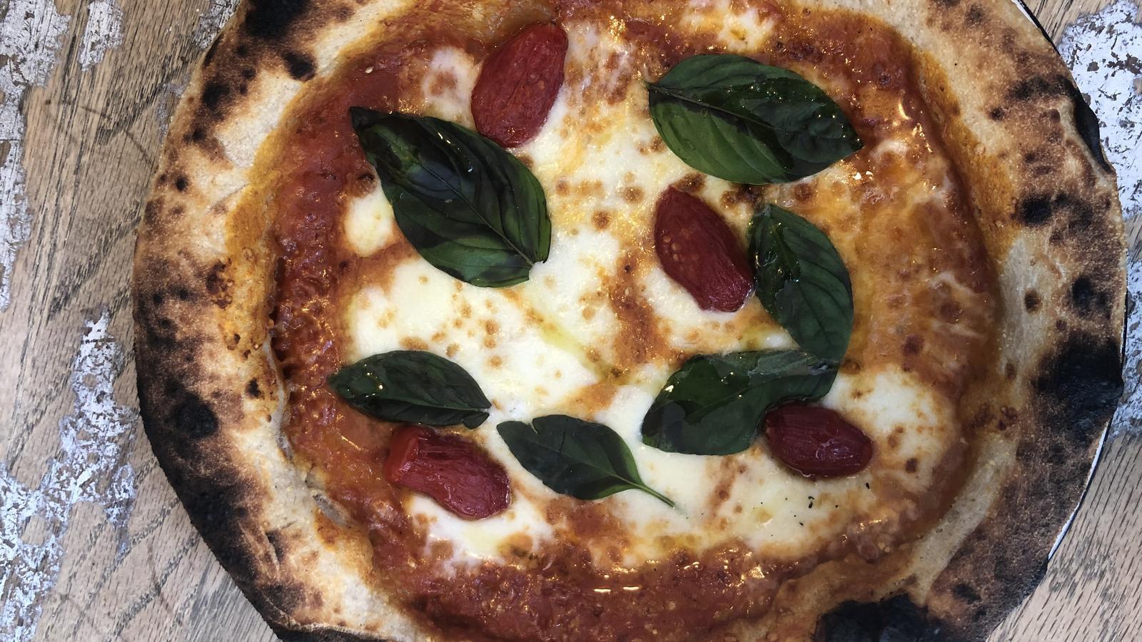 Una de les pizzes de l'Agreste