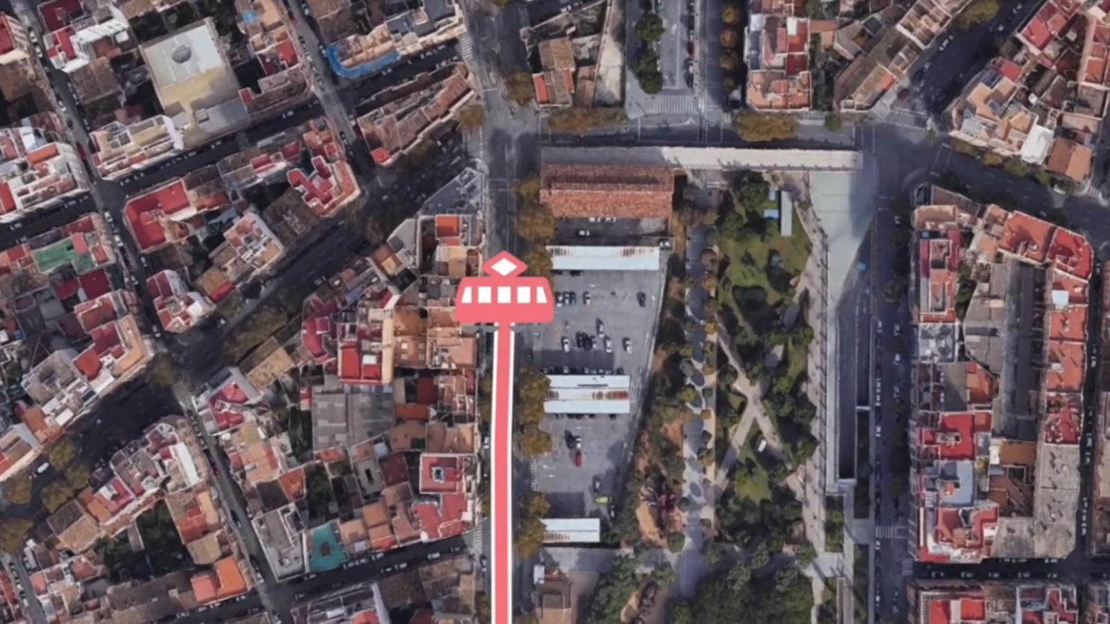 Tramvia plaça d'Espanya a Son Espases
