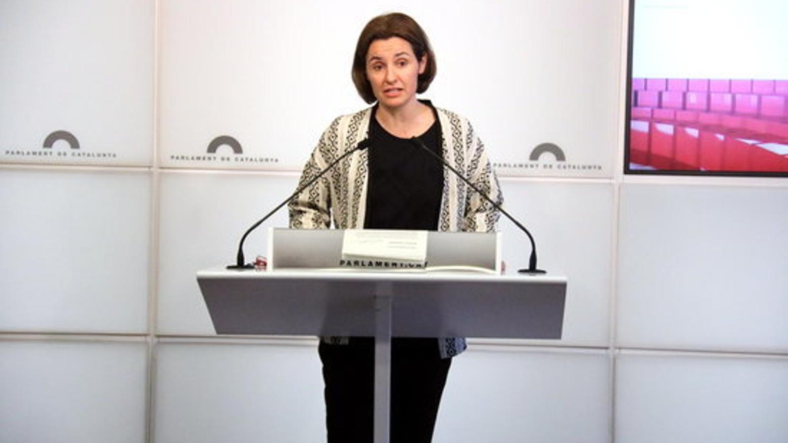 La portaveu d'ERC al Parlament, Anna Caula, en una imatge d'arxiu