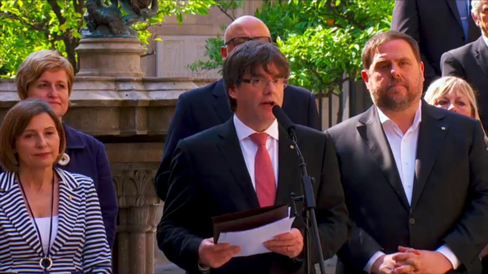 La pregunta del referèndum de l'1 d'octubre