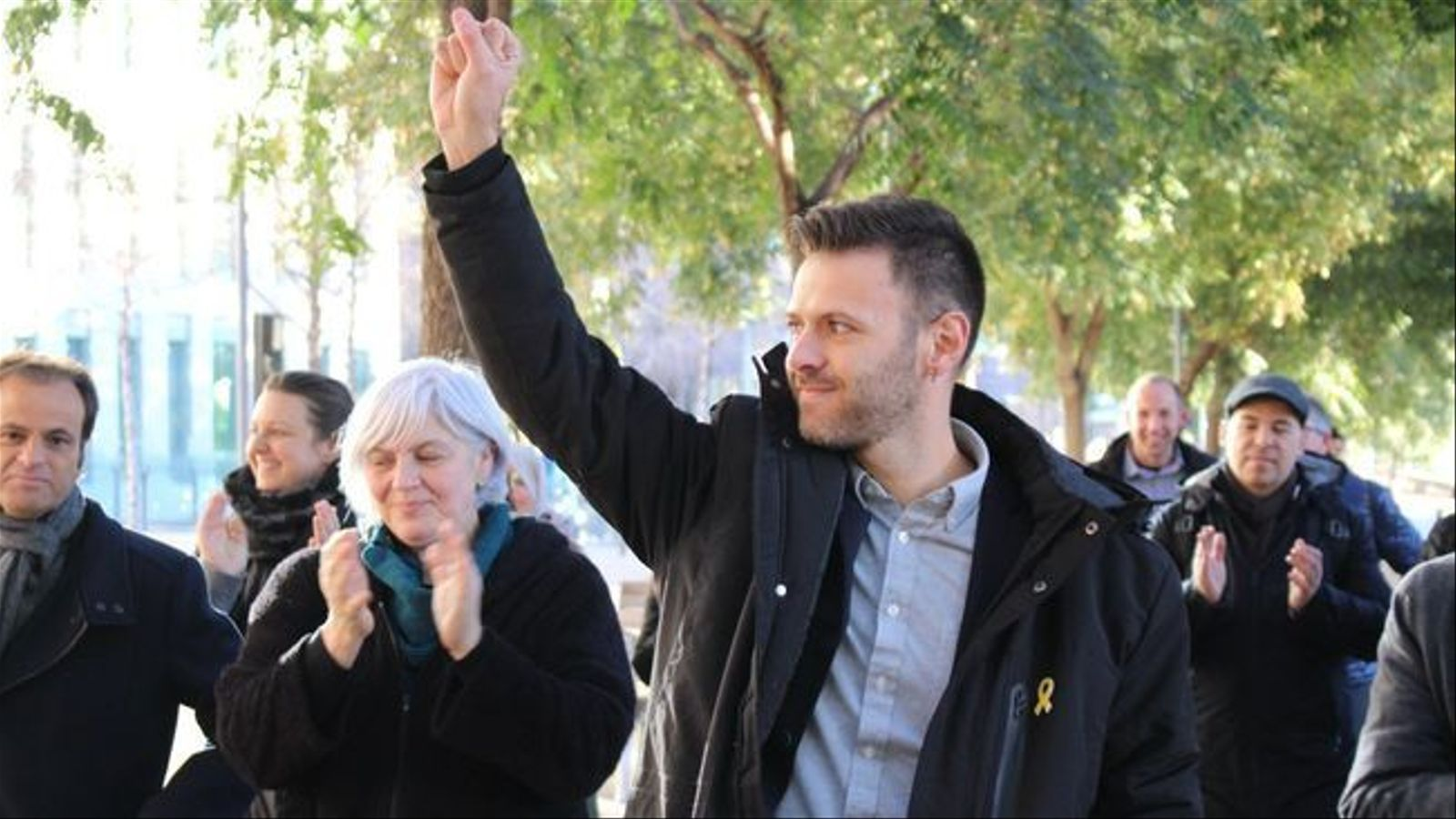 El regidor de Badalona que va retirar cartells independentistes d'un cotxe policial diu al jutge que ho tornaria a fer