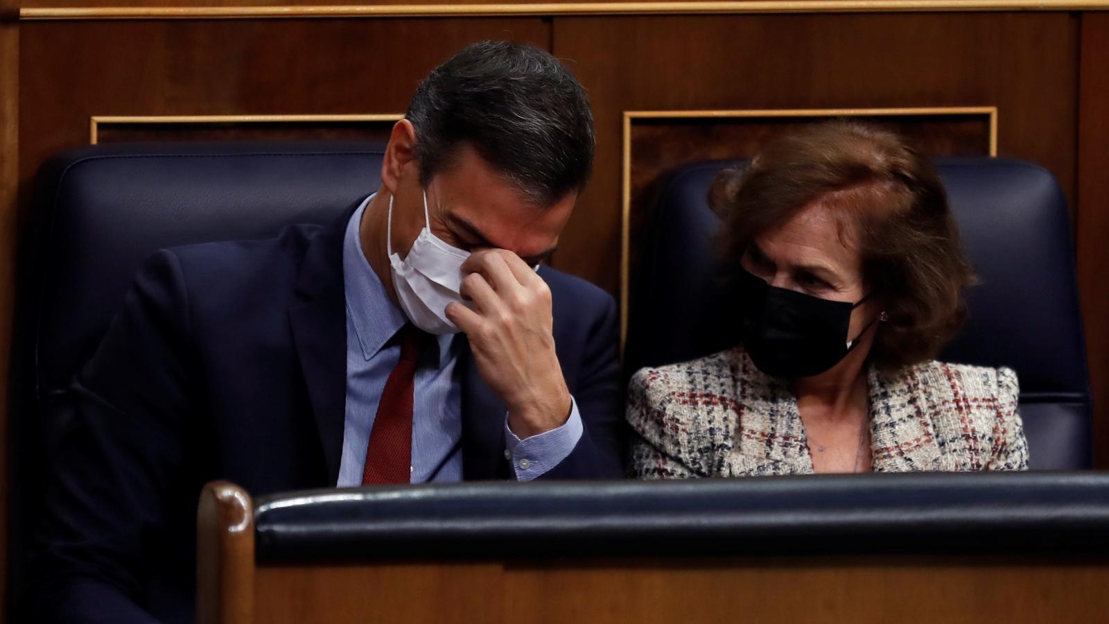 Sánchez encarrila amb ERC la pròrroga de l'alarma a canvi de comparèixer cada dos mesos al Congrés