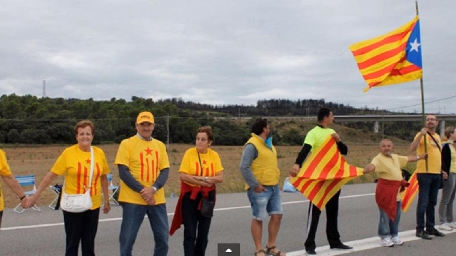 No serem moguts, la Via Catalana a Vilajuïga