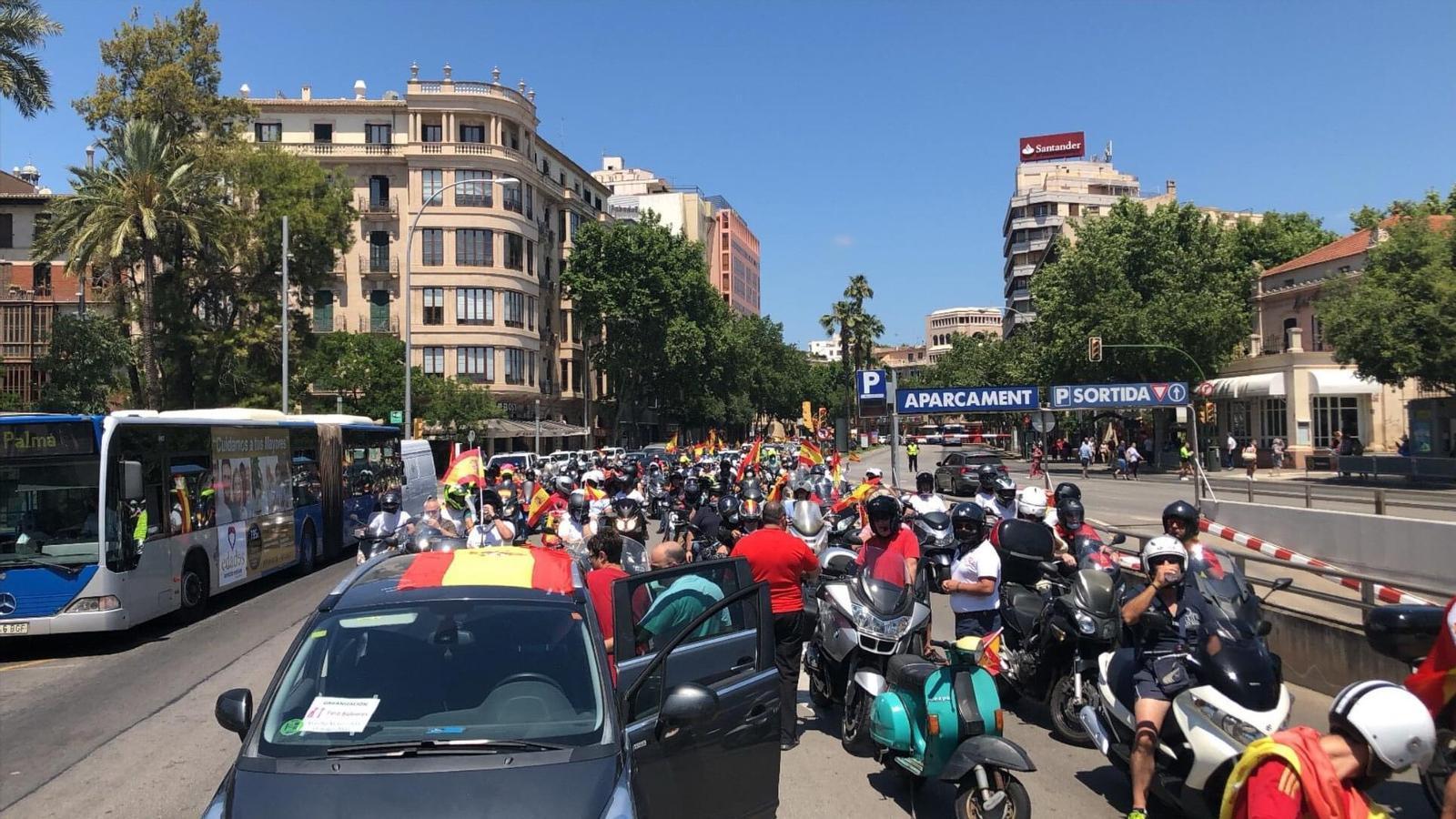 Imatge de la manifestació organitzada per Foro Baleares