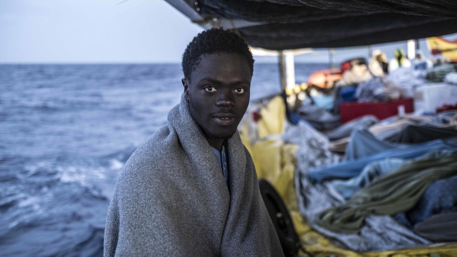 Sekou Sherif, estudiant liberià rescatat el 15 de març, a bord de l'Open Arms. XAVIER BERTRAL