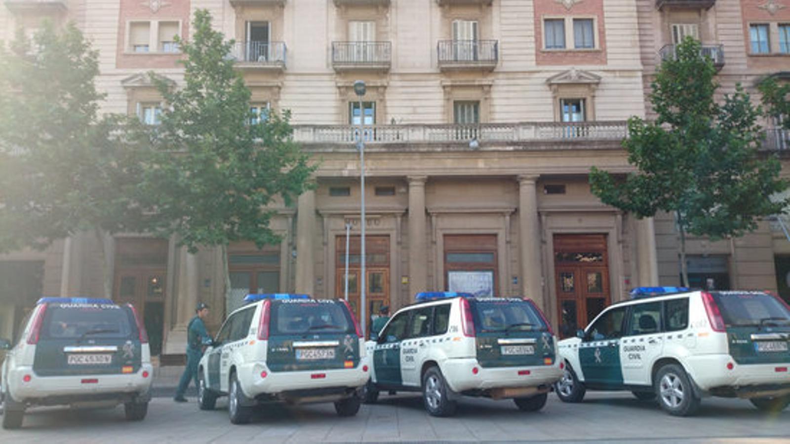 Un dels punts de Reus on la Guàrdia Civil estaria fent registres