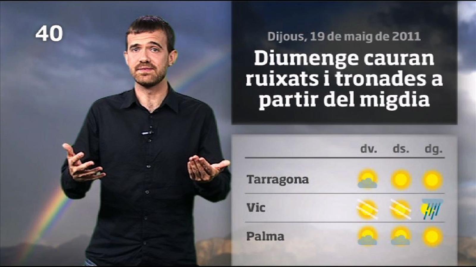 La méteo en 1 minut: el cap de setmana començarà amb sol (19/05/2011)