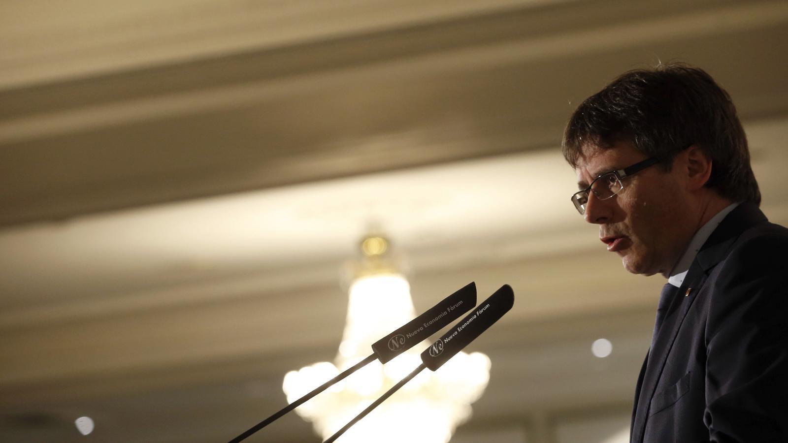 La conferència de Puigdemont a Madrid, en directe