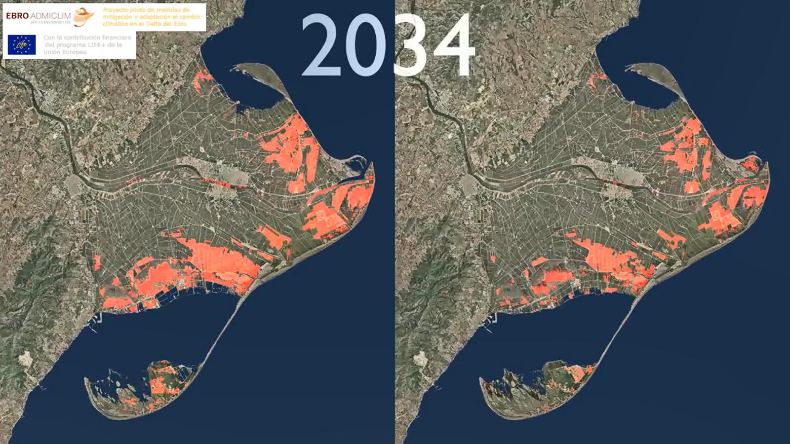 Així pot desaparèixer el delta de l'Ebre els propers anys