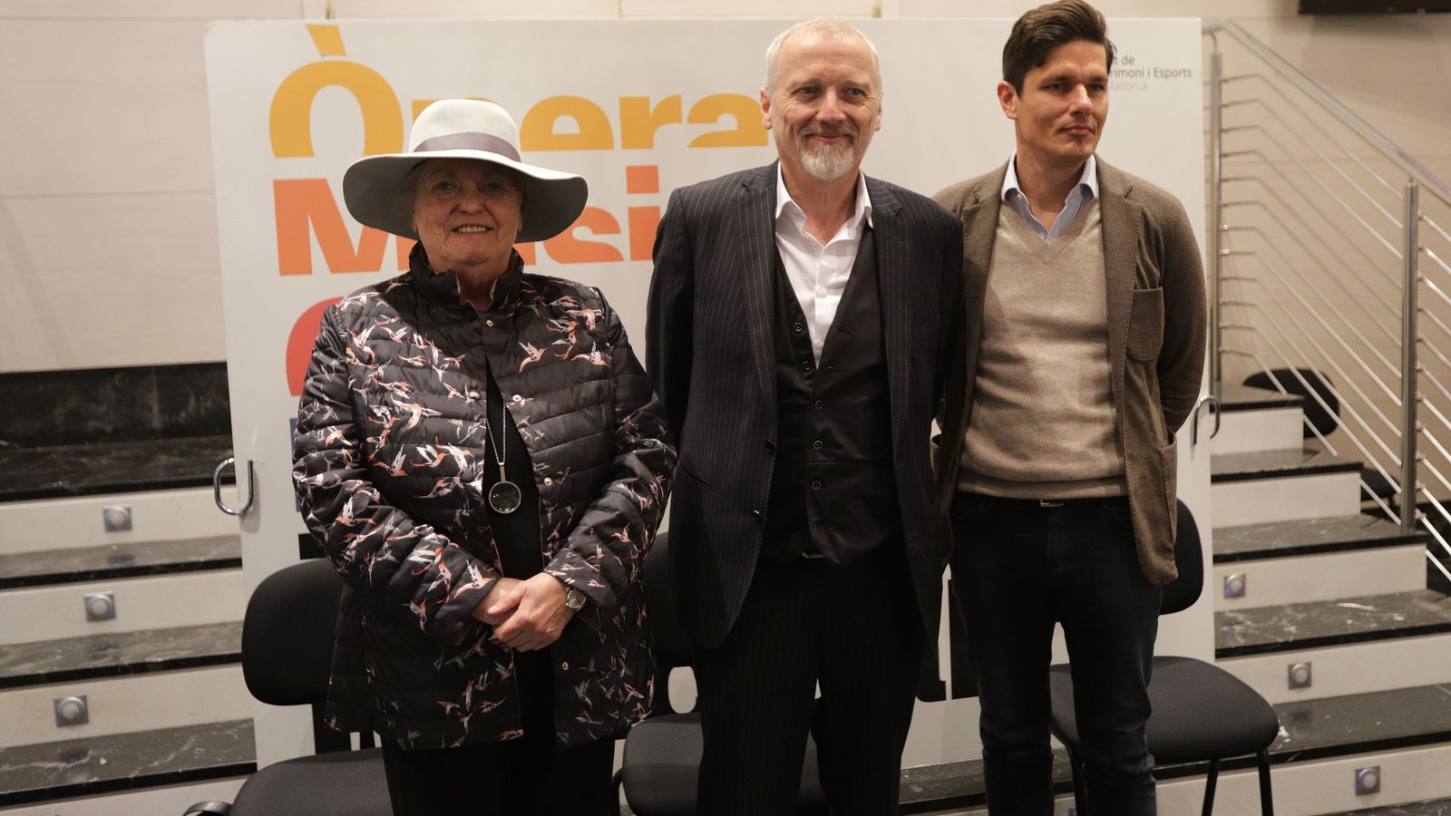 Carlos Forteza junt a Jan Lauwers i Viviane de Muynck