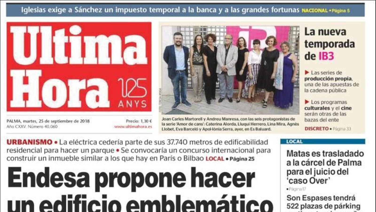 """""""El PSOE explota: «Que cessi la ministra i vagi a eleccions»"""", portada de 'La Razón'"""
