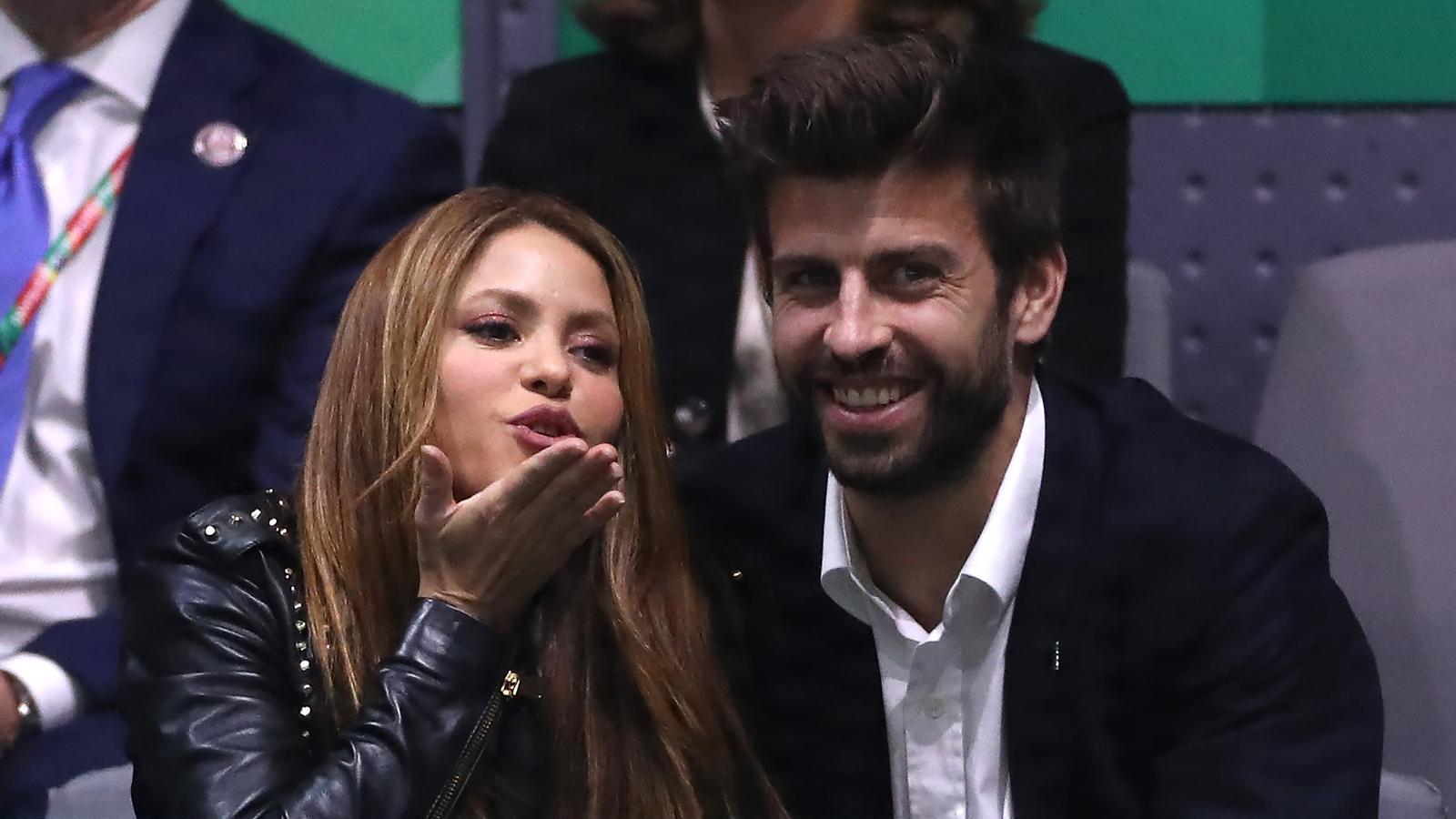 Gerard Piqué i Shakira a Madrid, ahir