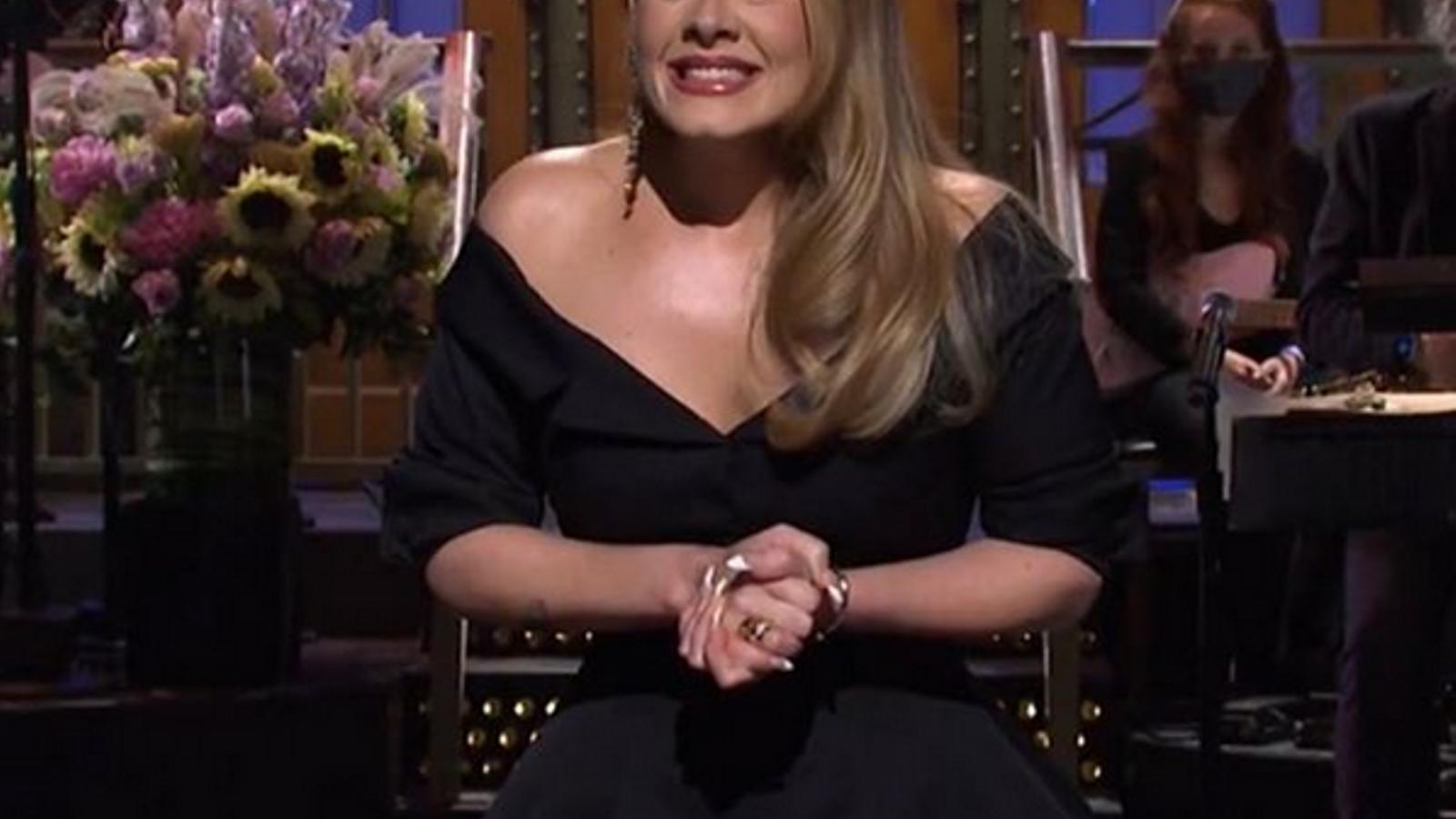 Adele en una aparició televisiva a 'SNL' la setmana passada