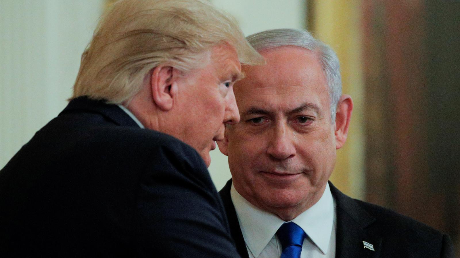 Donald Trump amb el primer ministre israelià, Benjamin Netanyahu.