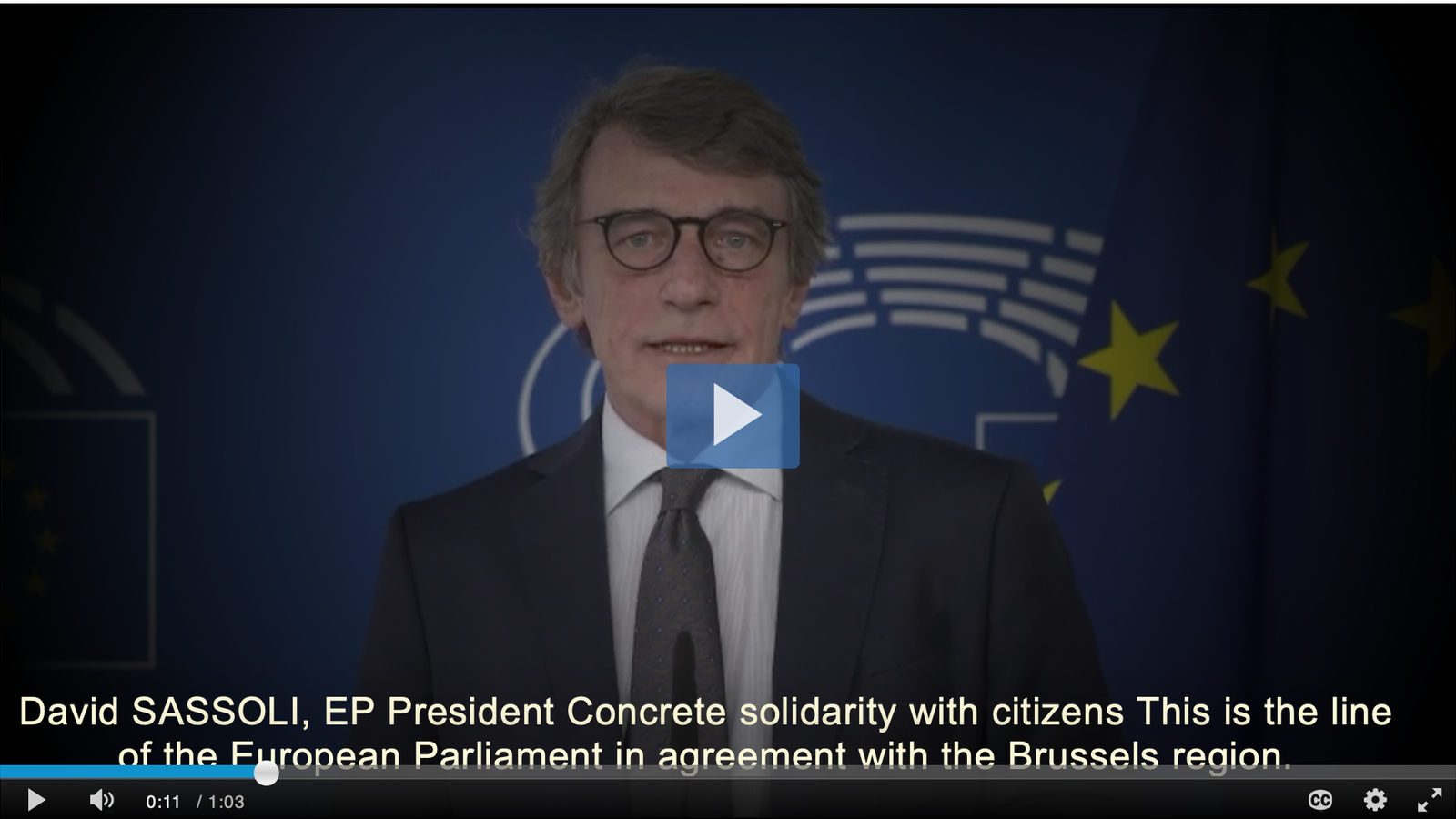 El president del Parlament europeu, David Sassoli, ofereix l'Eurocambra per cuinar mil dinars diaris pels sense sostre i el personal sanitari.