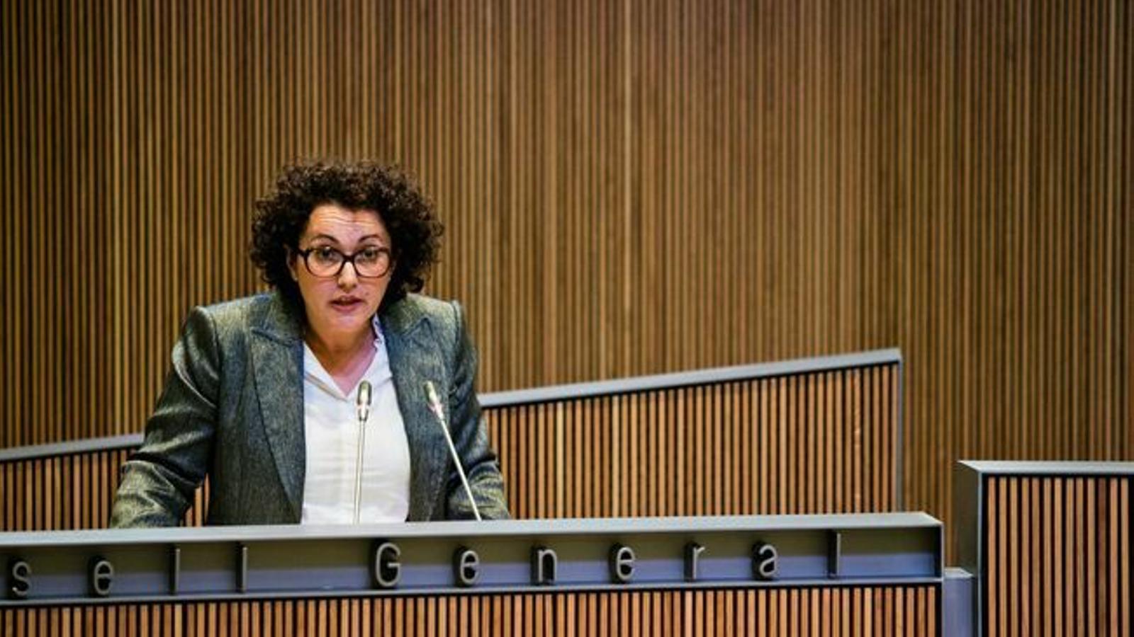 La ministra de la Funció Pública i Reforma de l'Administració, Judith Pallarés. ANA.