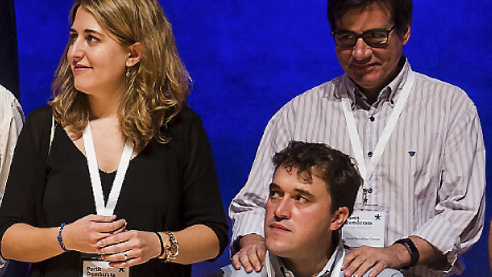 Imatge d'un consell nacional del PDECat dels temps en què Marta Pascal i David Bonvehí compartien partit.