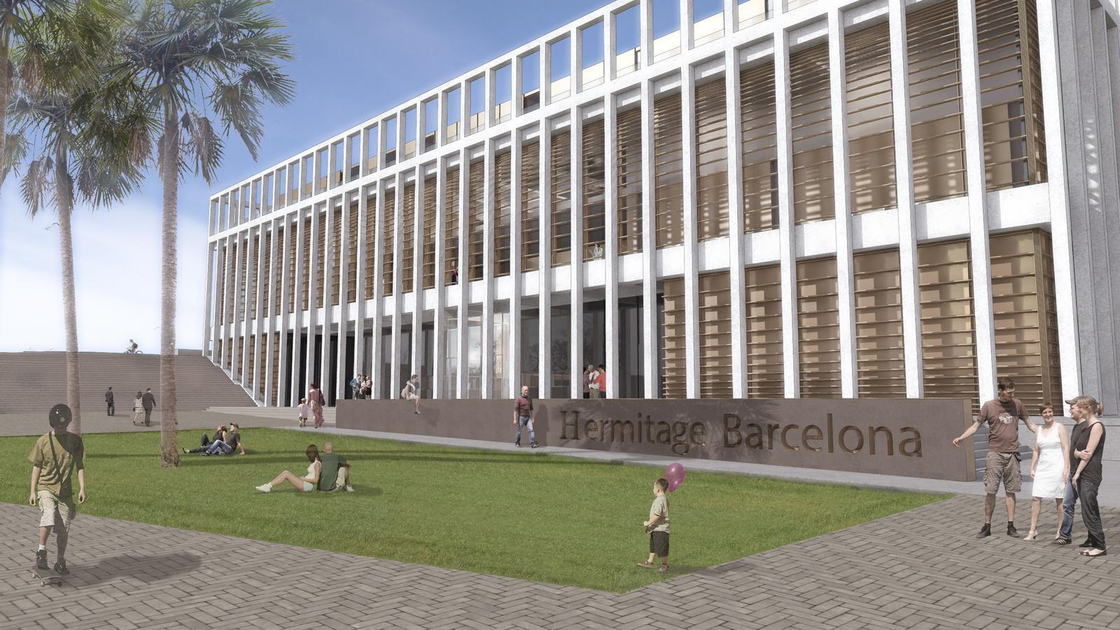 Imatge virtual de l'edifici de l'Ermitage Barcelona