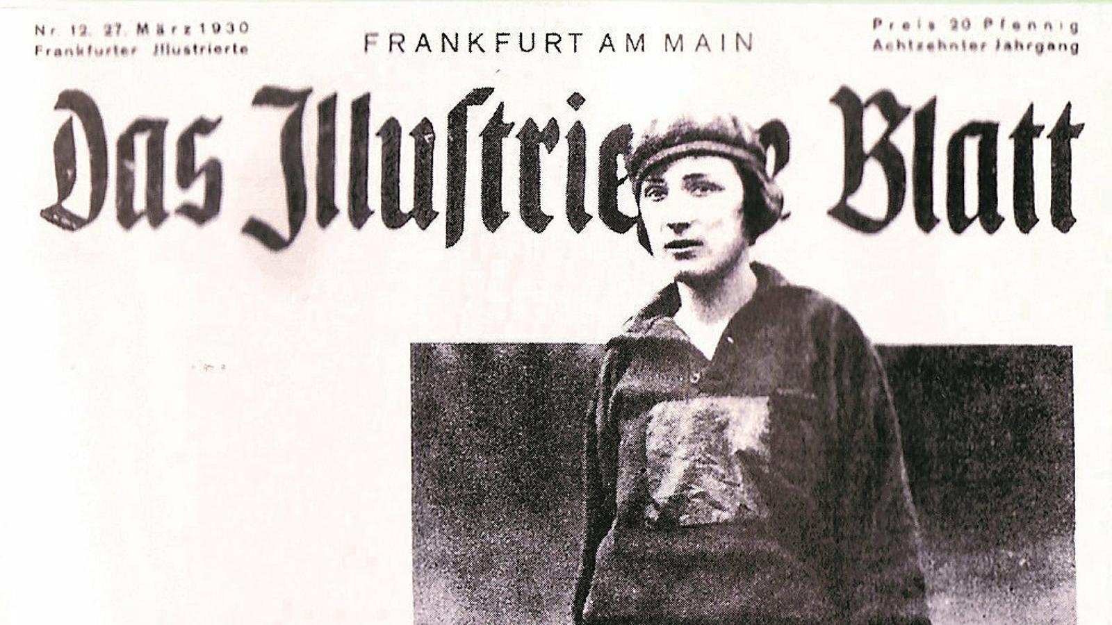 Lotte Specht en una revista dels anys 30.