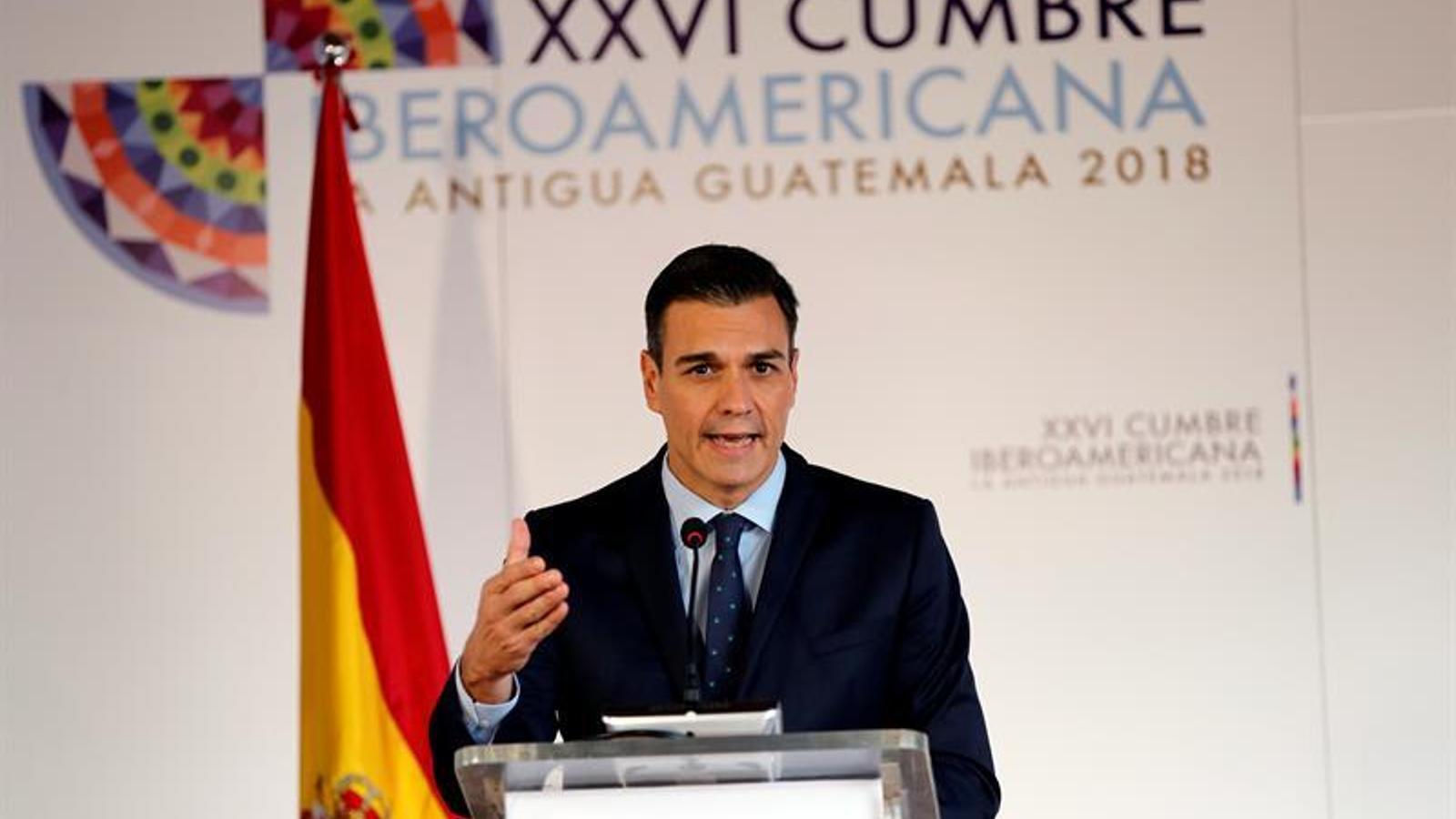 El president espanyol, a la cimera iberoamericana de Guatemala