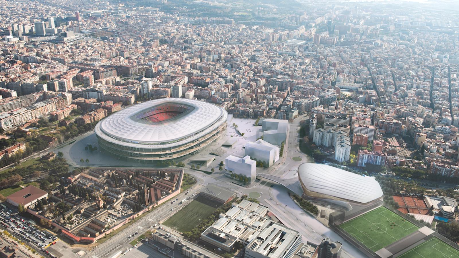 Imatge aèria del nou Camp Nou