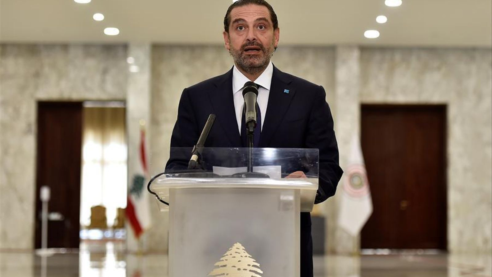 Saad Hariri, aquest dijous, després de ser designat de nou primer ministre del Líban
