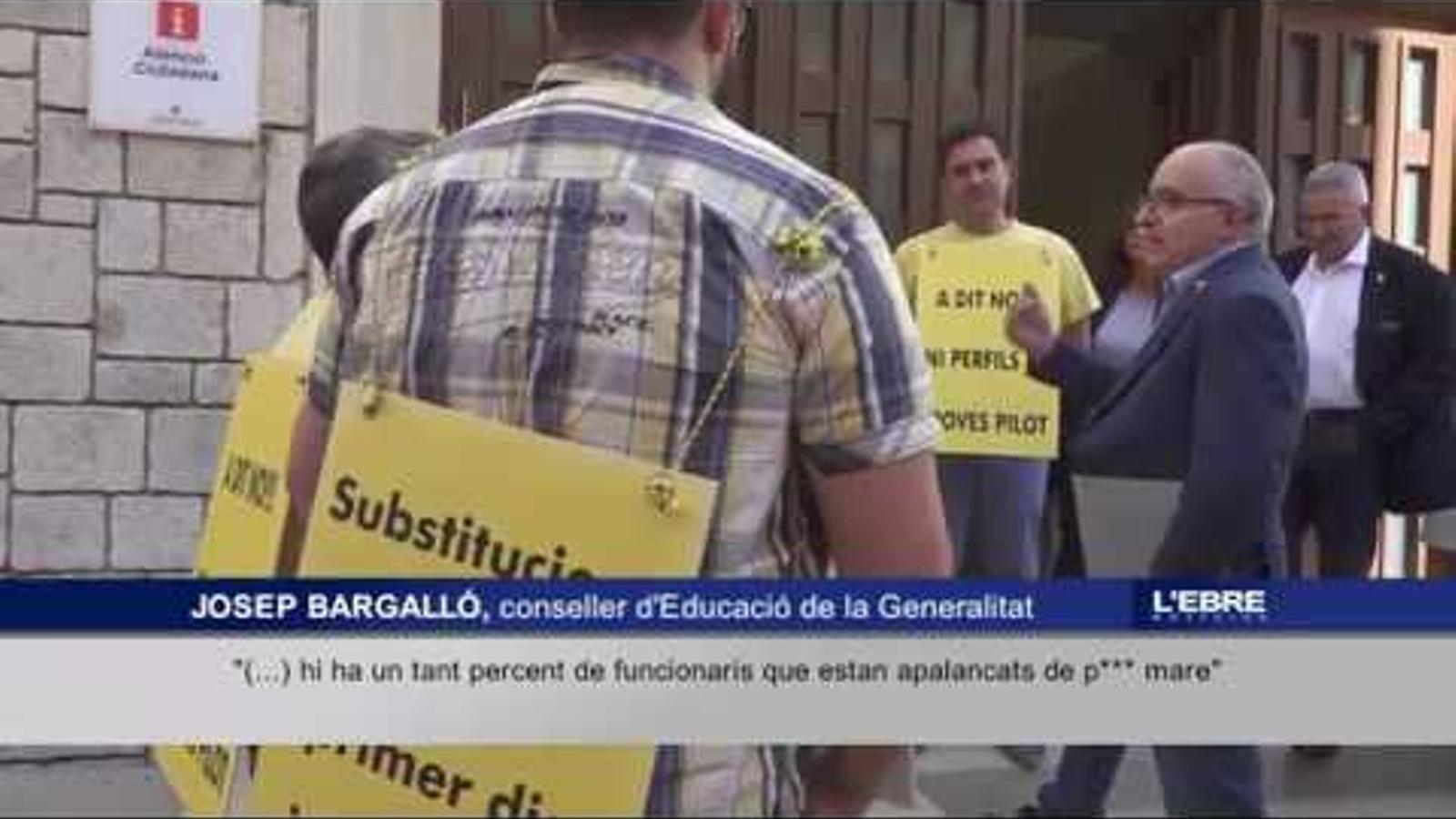 """Bargalló, a un grup de sindicalistes: """"Hi ha un tant per cent de funcionaris apalancats de puta mare"""""""