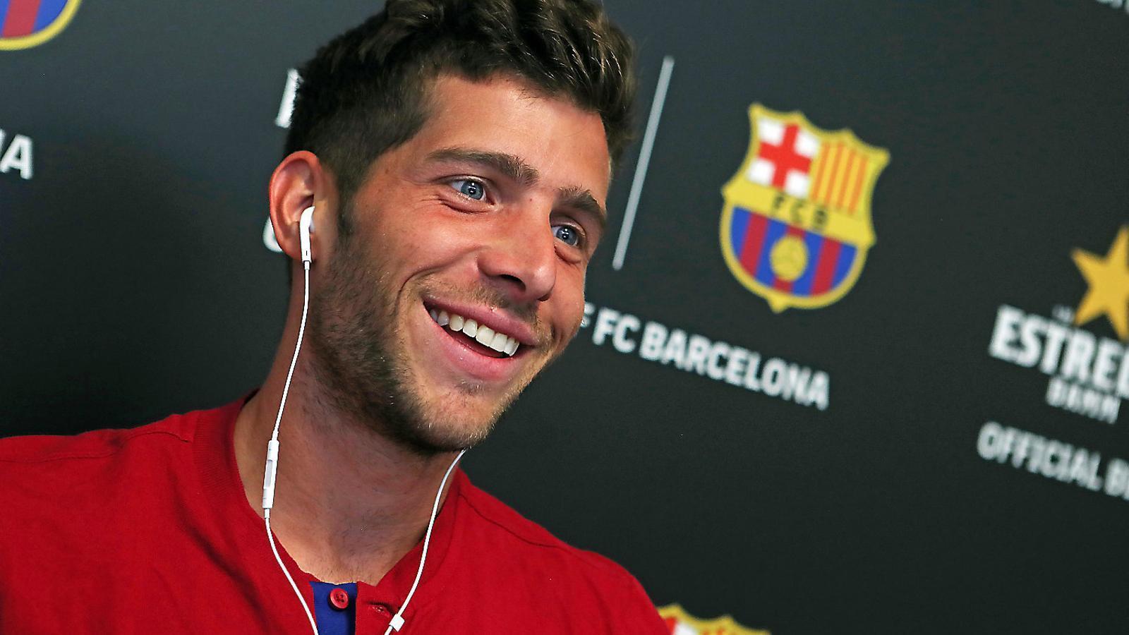 """Sergi Roberto: """"Si juguem bé, potser aconseguim que Messi vulgui seguir al Barça"""""""