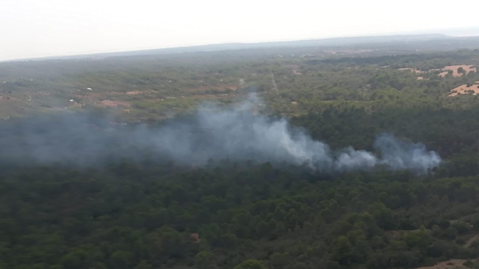 Ibanat actua a un incendi forestal nivell 0 a Santa Eugènia