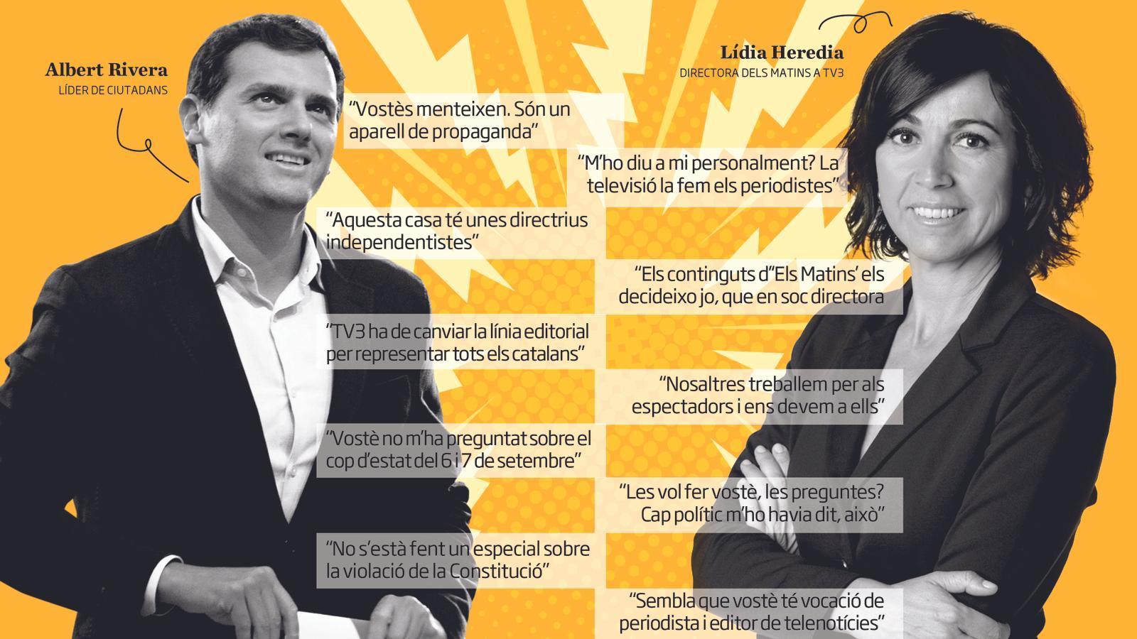 """Rivera apuja el to contra TV3 i els acusa de """"manipuladors"""""""