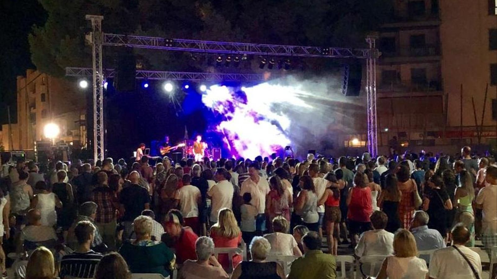 Un dels concerts musicals de la festes.