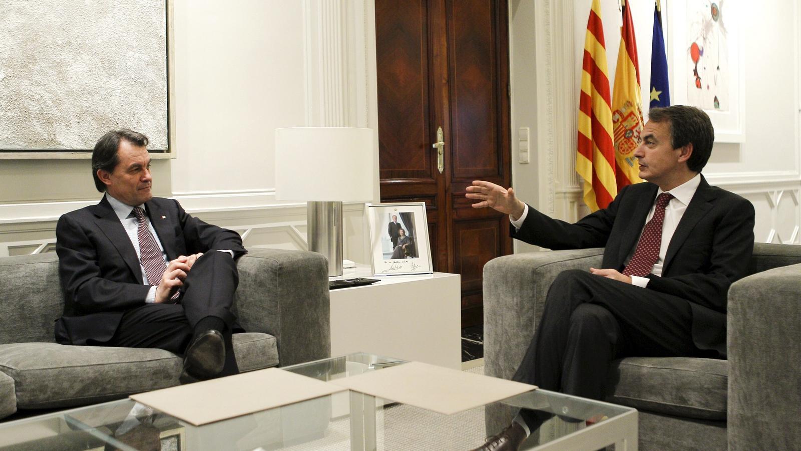 Zapatero va demanar a Mas en la reunió de dilluns a la Moncloa més esforç del que la Generalitat havia previst inicialment.
