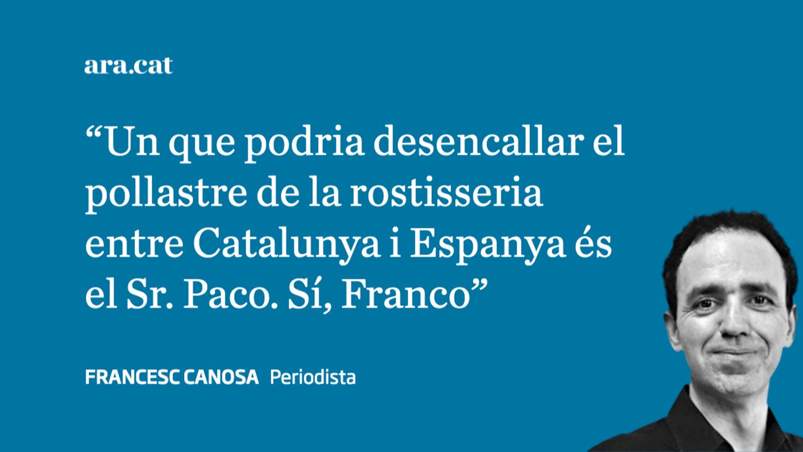 Franco reconeixent el problema català a Poblet