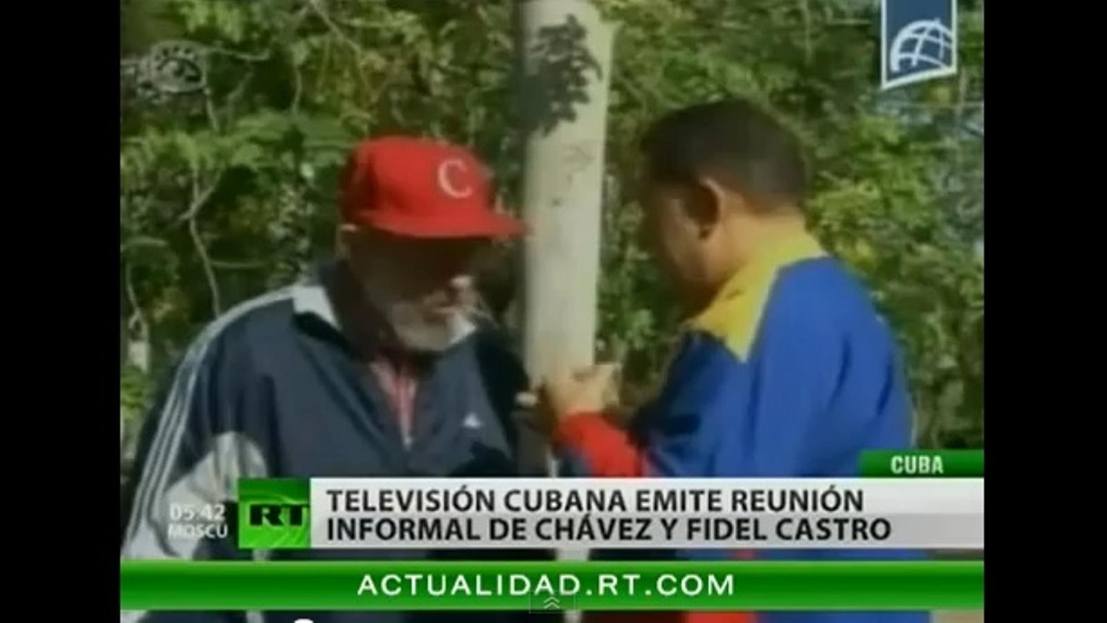 Trobada informal entre Fidel Castro i Hugo Chávez