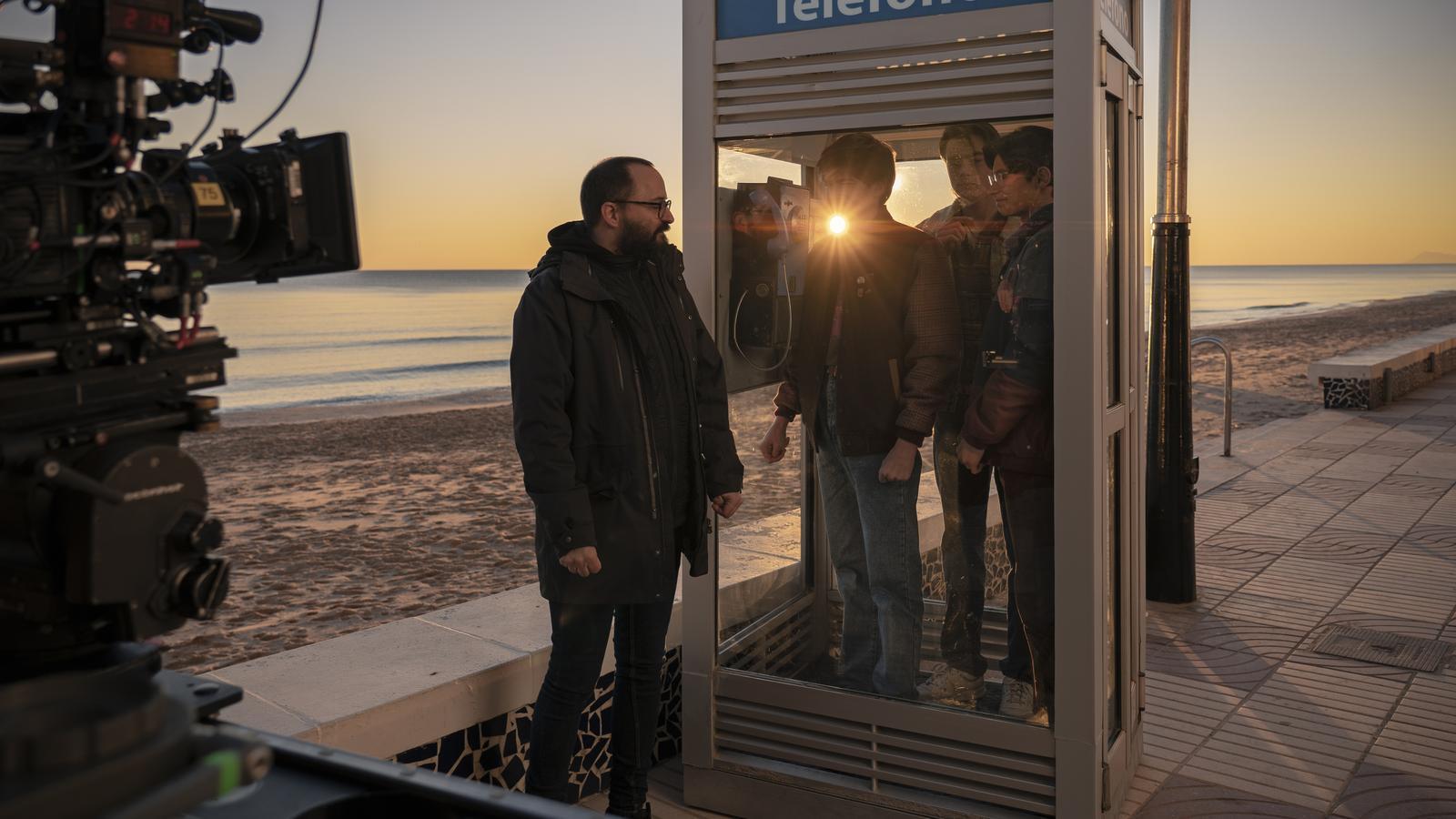 Un moment del rodatge de la sèrie 'Paraíso' que Movistar+ estrenarà a finals d'any o principis del 2021