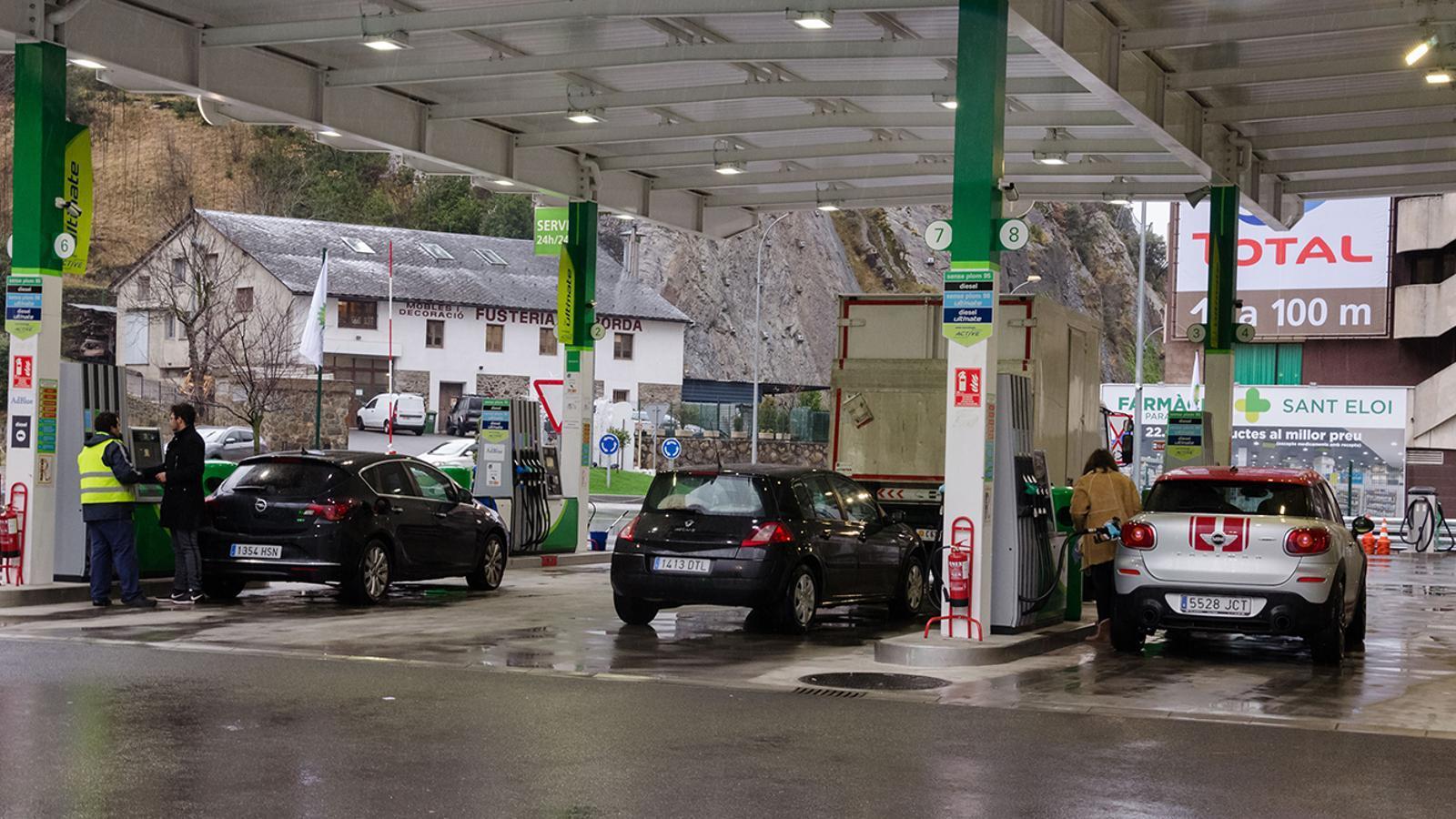 Una benzinera de Sant Julià de Lòria. / ANA